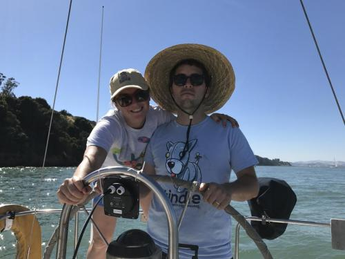 Beth and Thomas sailing Tukki
