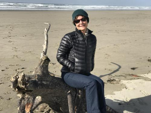 A cold beach day in October along the Oregon coast