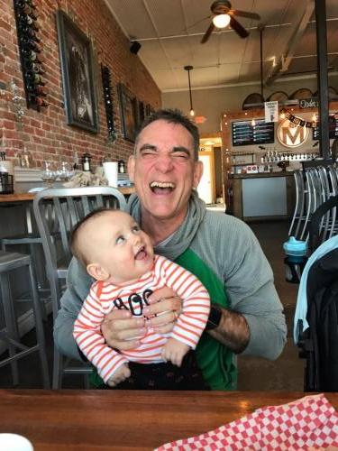 laughing with Nelson - fun having a grandson 2019