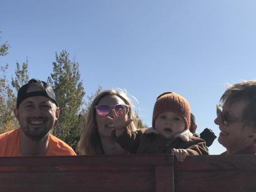 Pumpkin patch fun with the grandson and of course Robin and Justin 2019